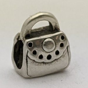 Jewelry - PANDORA Style Purse Handbag Charm Silver
